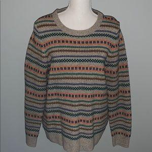 Jcrew Women's Wool Sweater Khaki